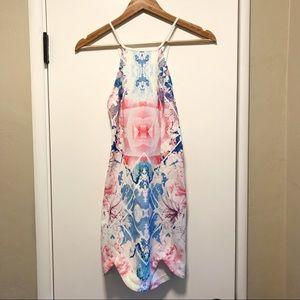 Floral Geometric Bodycon Dress